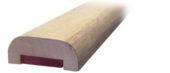 Main courante bois rectangulaire
