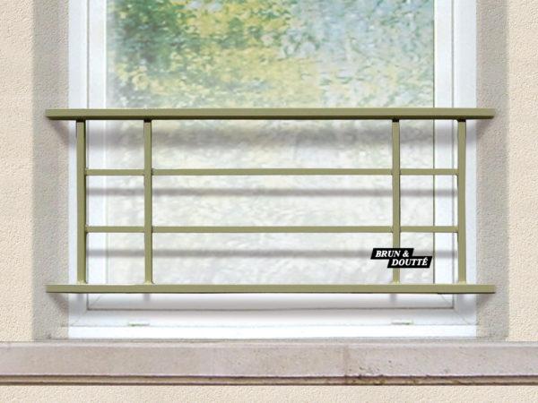 ANNECY 40 barre d'appui de fenêtre acier