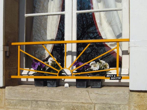SOLEIL barre d'appui de fenêtre acier
