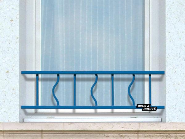 LAZURE barre d'appui de fenêtre acier