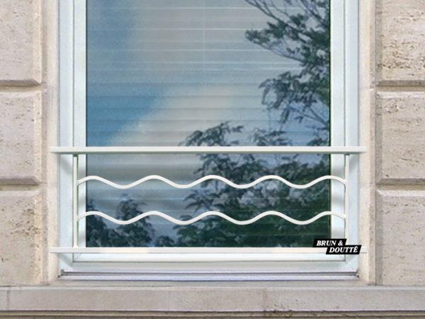 SAHARA 35 barre d'appui de fenêtre acier