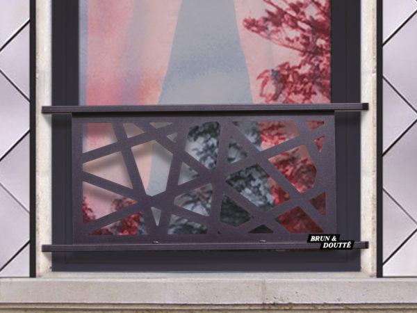 PHILADELPHIE barre d'appui de fenêtre acier