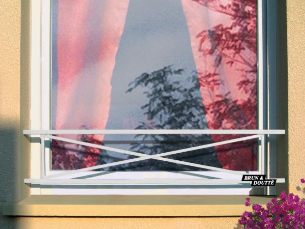 """CROIX DE ST ANDRÉ """"S"""" barre d'appui de fenêtre acier"""