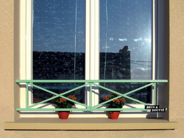 """CROIX DE ST ANDRÉ """"2M"""" barre d'appui de fenêtre acier"""
