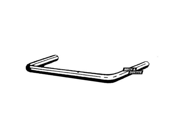 F barre d'appui de fenêtre acier