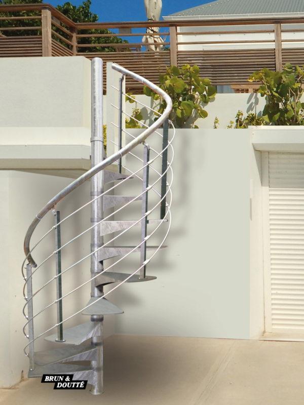 OSLO escalier hélicoïdal adaptable d'extérieur