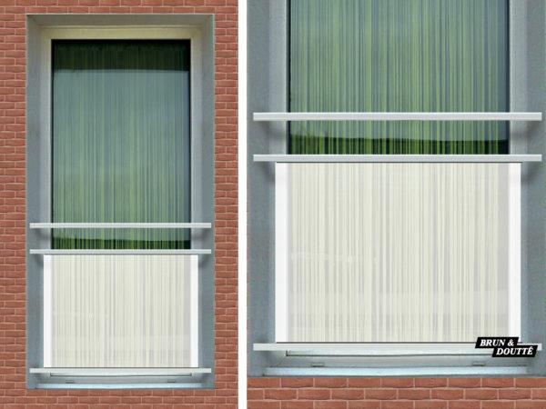 MANHATTAN OPALE Garde-corps de fenêtre acier