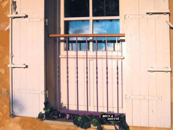 RANCH Garde-corps de fenêtre acier