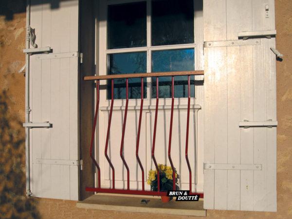 RHÔNE Garde-corps de fenêtre acier