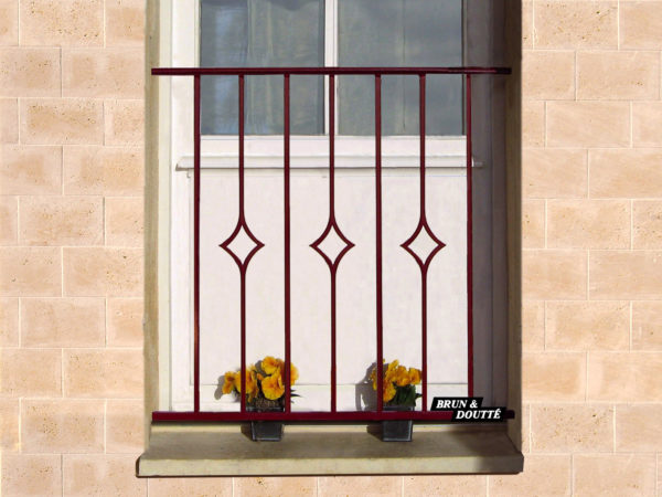 SOFIA Garde-corps de fenêtre acier