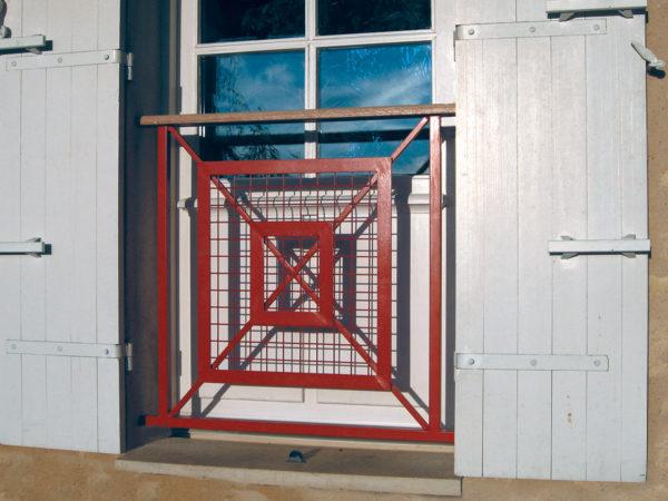 """MARGAUX """"D"""" Garde-corps de fenêtre acier"""
