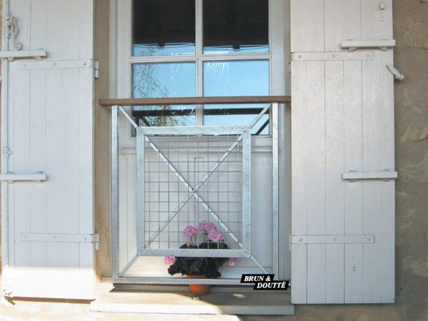 """MARGAUX """"S"""" Garde-corps de fenêtre acier"""