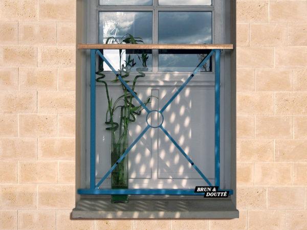 GIRONDE Garde-corps de fenêtre acier