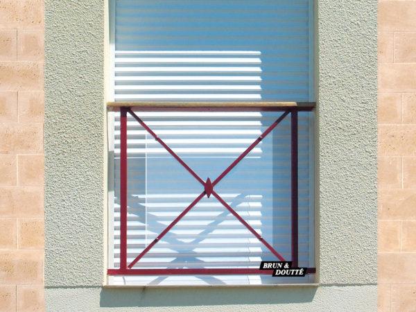 VÉGA Garde-corps de fenêtre acier