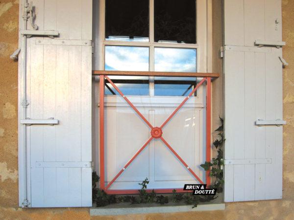 BORDEAUX Garde-corps de fenêtre acier