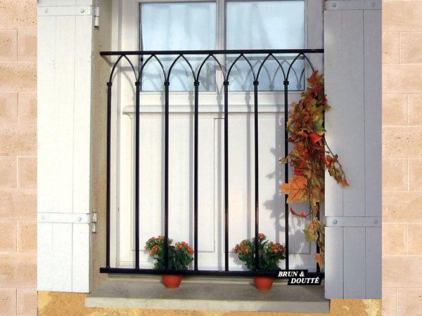 VENISE Garde-corps de fenêtre acier