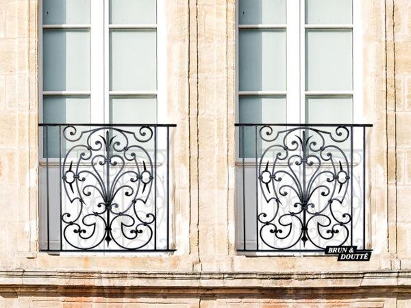 CHEVERNY Garde-corps de fenêtre acier