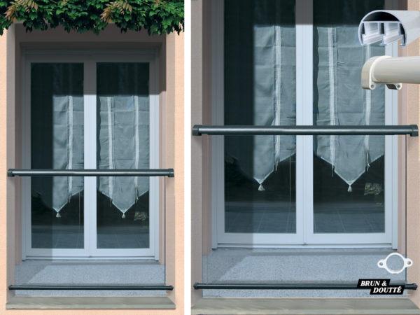 LOS ANGELES Garde-corps de fenêtre aluminium