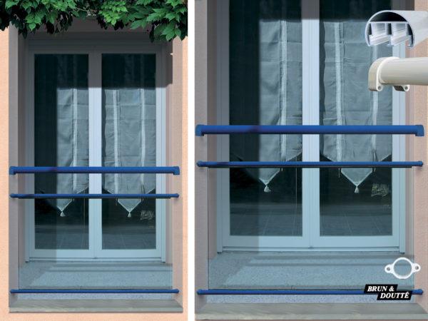 FIDJI Garde-corps de fenêtre aluminium