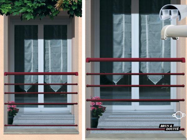 COLORADO Garde-corps de fenêtre aluminium