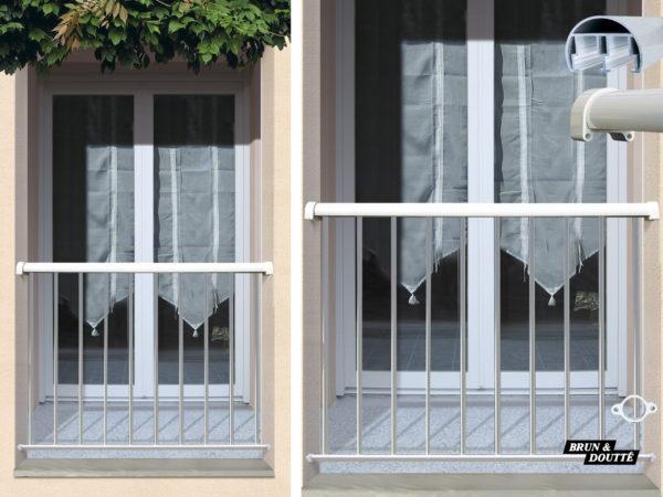BASTIA Garde-corps de fenêtre aluminium