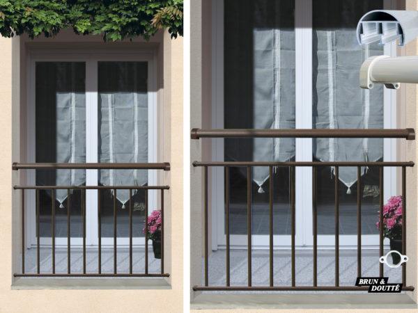 MÉRIBEL Garde-corps de fenêtre aluminium