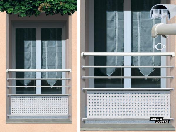 DJIBOUTI Garde-corps de fenêtre aluminium