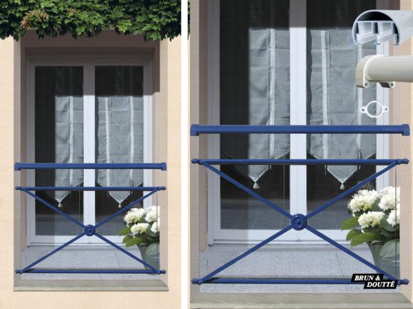 Garde-corps de fenêtre aluminium