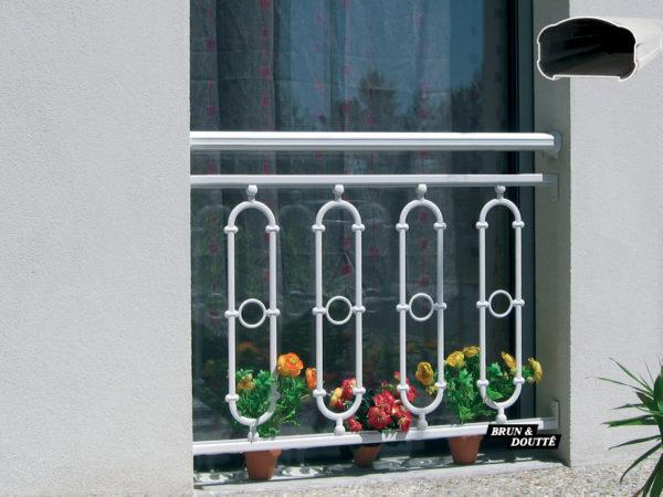 CHAMPAGNE Garde-corps de fenêtre aluminium