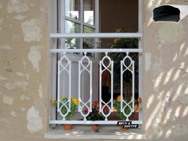 OMÉGA Garde-corps de fenêtre aluminium