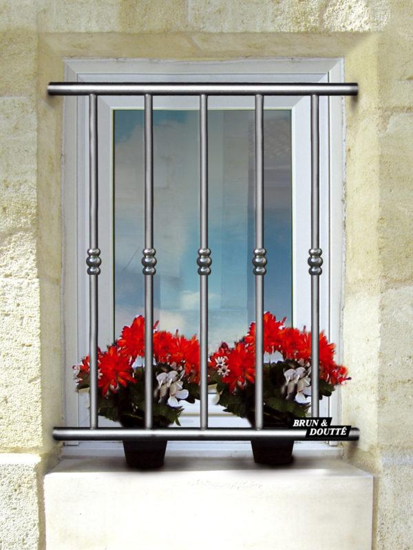 HAWAÏ grille de défense aluminium aspect inox