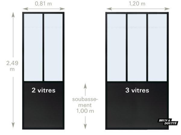 CLOISON VERRIÈRE D'ATELIER aluminium